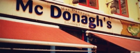 McDonagh's Seafood Bar is one of In Dublin's Fair City (& Beyond).