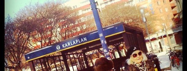 Karlaplan T-bana is one of Cristina : понравившиеся места.