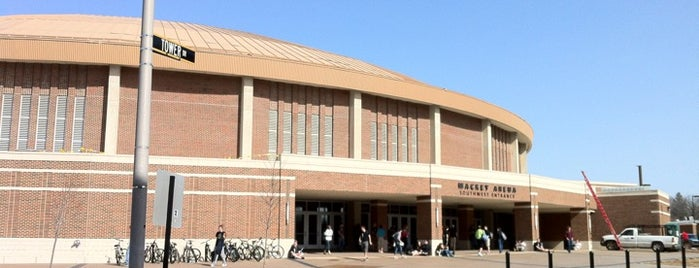 Mackey Arena (MACK) is one of dos....