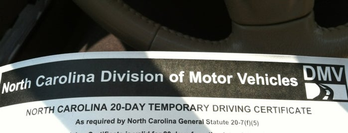 NC DMV is one of Places you do NOT want to check in.