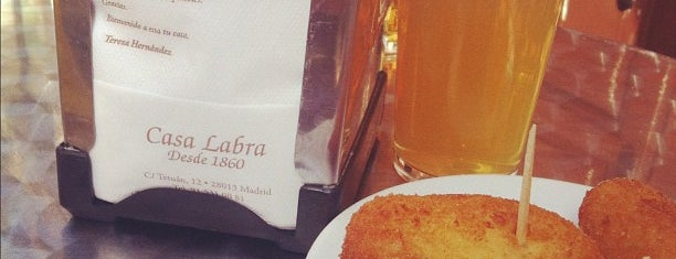 Casa Labra is one of madrid food.