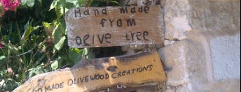 Olive wood shop is one of Crete.