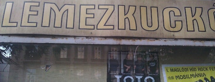 Lemezkuckó is one of record stores.