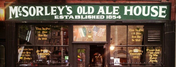 McSorley's Old Ale House is one of Bars I love.