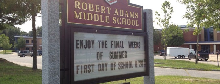 Robert H. Adams Middle School is one of The only Holliston in the USA #VisitUS.