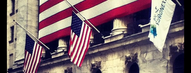 Wall Street is one of New York, New York.
