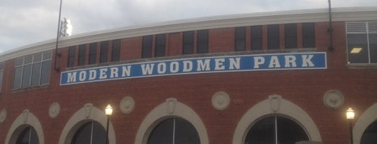 Modern Woodmen Park is one of Jared's Liked Places.