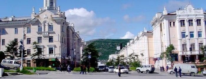 Магадан is one of Gespeicherte Orte von Яна.