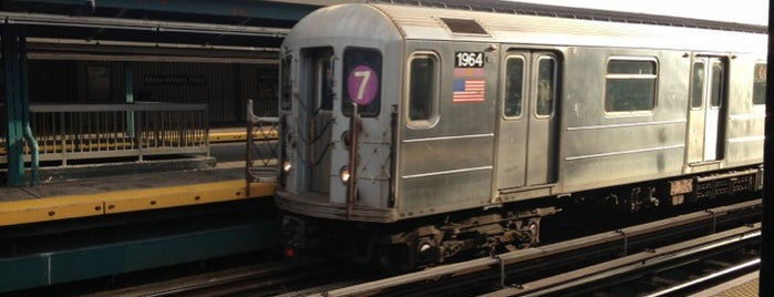 MTA Subway - Mets/Willets Point (7) is one of IRT Flushing Line (7) <7>.