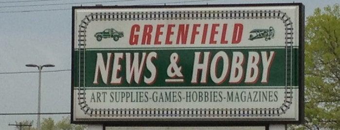 Greenfield News & Hobby is one of Orte, die Rachel gefallen.