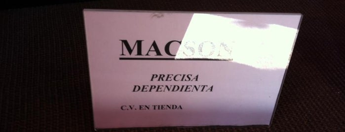 MACSON is one of Ofertas de Trabajo Comercios Barcelona.