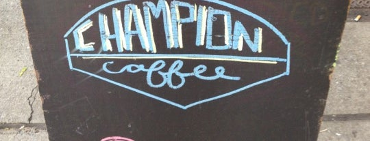 Champion Coffee is one of Coffee - my favorites.
