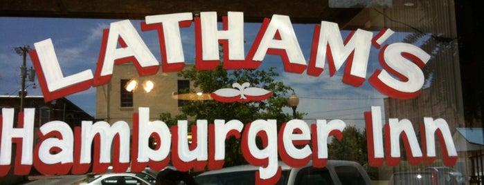 Latham's Hamburger Inn is one of Business Insider's 50 Best Burgers.