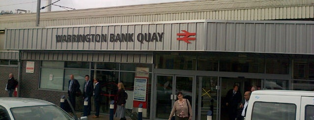 Warrington Bank Quay Railway Station (WBQ) is one of Railway stations visited.