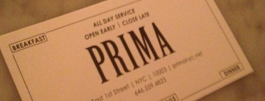 Prima is one of Burgers-To-Do List.