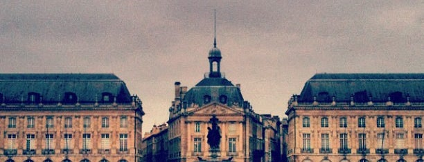 Place de la Bourse is one of Jas' favorite urban sites.