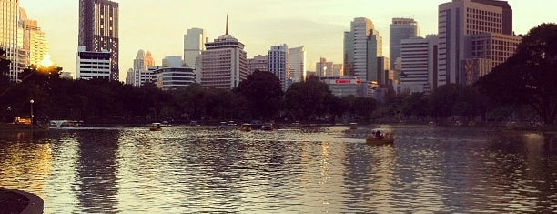Lumphini Park Lake is one of Bangkok.