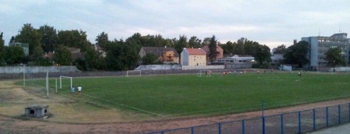 Gradski stadion is one of Tempat yang Disukai Teodora.