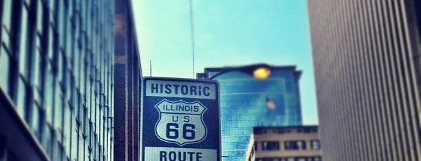 The Beginning Of Route 66 is one of Chicago.
