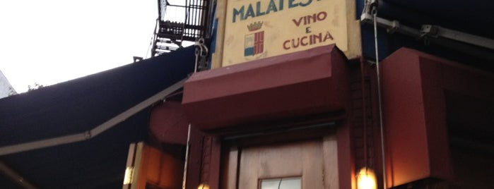 Malatesta Trattoria is one of The Outsiders.