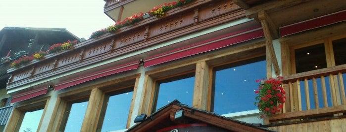 Bar brasserie la Croix Saint Maurice is one of Megeve.