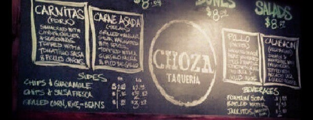 Choza Taqueria is one of Lunch.