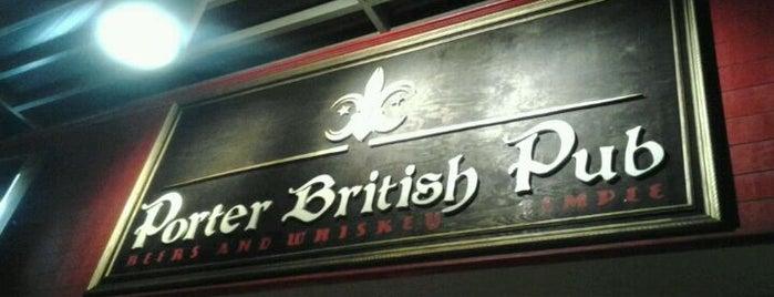 Porter British Pub is one of Locais salvos de karla.