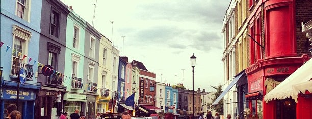 Portobello Road is one of London.