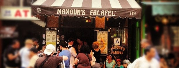 Mamoun's Falafel is one of Lunch spots near work.