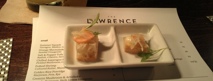 The Lawrence is one of Jezebel Magazine's 100 Best Restaurants 2012.