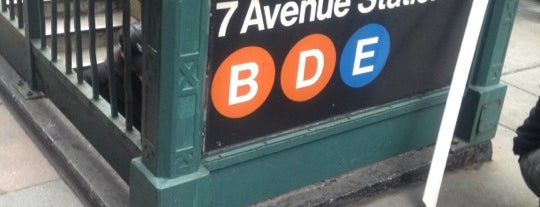 MTA Subway - 7th Ave (B/D/E) is one of Orte, die Alberto J S gefallen.
