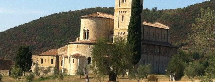 Abbazia di Sant'Antimo is one of Montalcino.