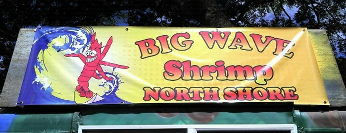 Big Wave Shrimp is one of Diners, Drive-Ins & Dives 2.