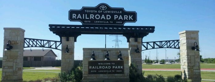 Toyota of Lewisville Railroad Park is one of Lewisville.