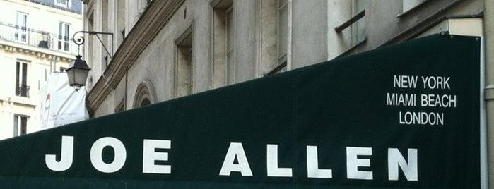 Joe Allen is one of Guide to Paris's best spots.