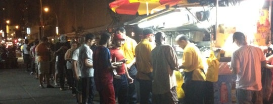 The Halal Guys is one of Adela's favorite restaurants.
