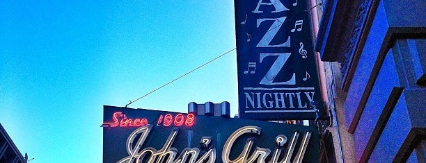 John's Grill is one of Northern CALIFORNIA: Vintage Signs.