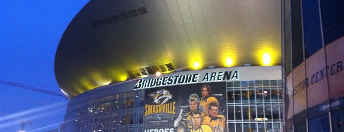 Bridgestone Arena is one of sports arenas and stadiums.