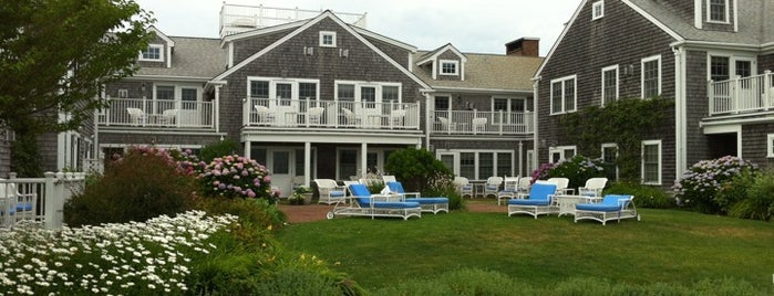 The Brant Point Grill at The White Elephant Hotel is one of Places where men wear salmon-colored pants.