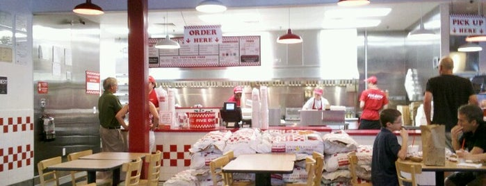 Five Guys is one of Trudy's list.