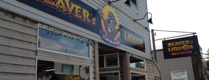 Beaver's liquor is one of Locais salvos de Jenny.