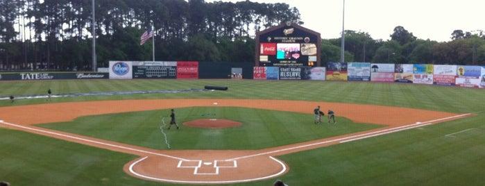 Historic Grayson Stadium is one of Savannah.