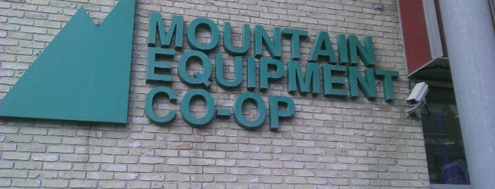 Mountain Equipment Co-op is one of Winnipeg.