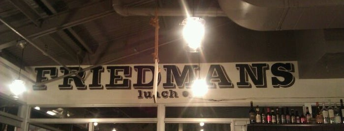 Friedman's Lunch is one of NYC- Restaurants I Wanna Try!.