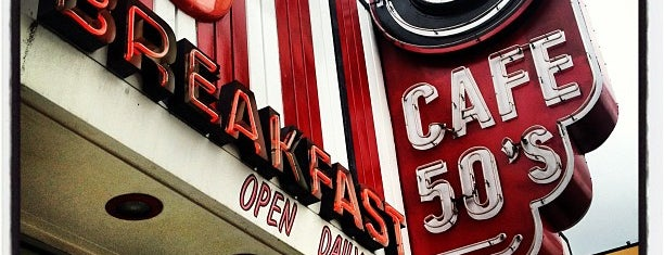 Cafe 50s is one of David & Dana's LA BAR & EATS!.