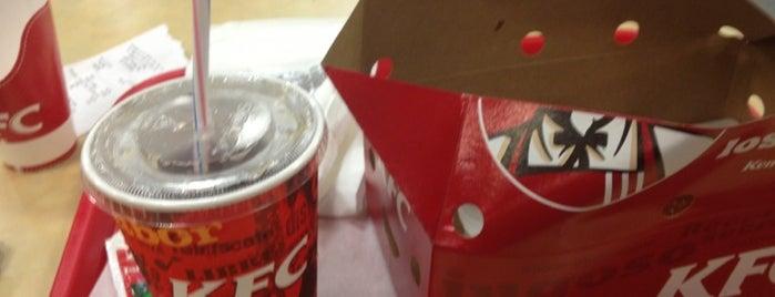 KFC is one of Orte, die Leo gefallen.
