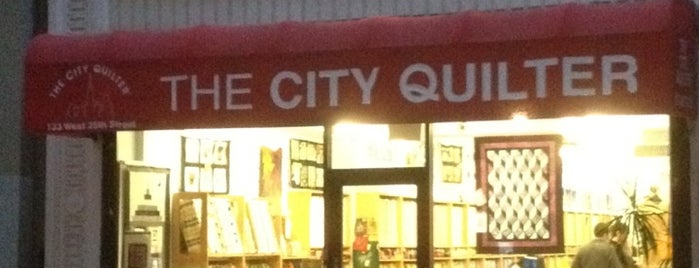 The City Quilter is one of Places to go back to.