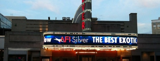 AFI Silver Theatre and Cultural Center is one of John 님이 저장한 장소.
