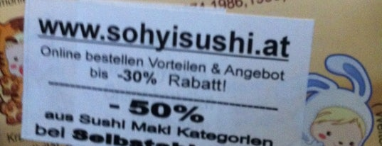 Sohyi Sushi is one of Vienna.