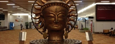 Indira Gandhi International Airport (DEL) is one of India.